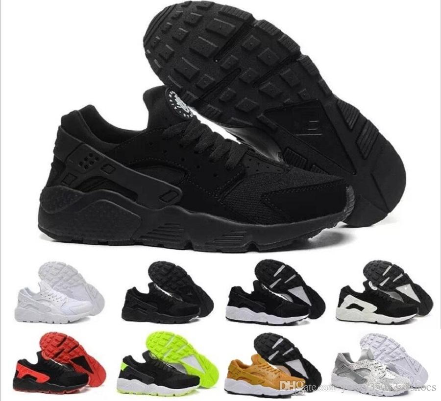 2a34048946b 2016 Cheap Air Huarache 2 Ii Ultra Classical All White And Black Huaraches  Shoes Men Women Sneakers Casual Shoes Size 36 45 Clogs For Women Shoe Boots  From ...