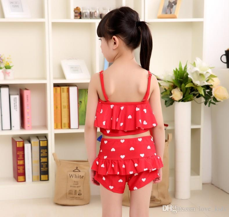 cute polka dot girls swimming clothes girls swimwear bikini beach dress bathing suit toddlers girls swimsuits