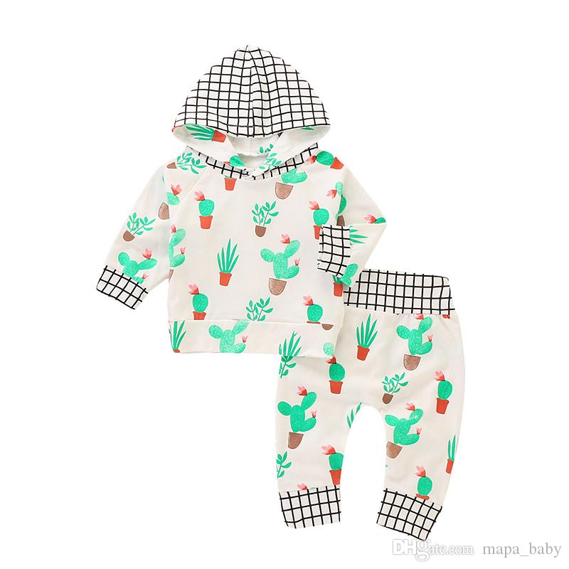 47031d20 2019 Baby Hoodie Outfit Autumn Floral Clothes Set Kids Boy Girl Long Sleeve  Hoodies Top Cotton Plant Pants Suits Plaid Tracksuit Outfits From  Mapa_baby, ...
