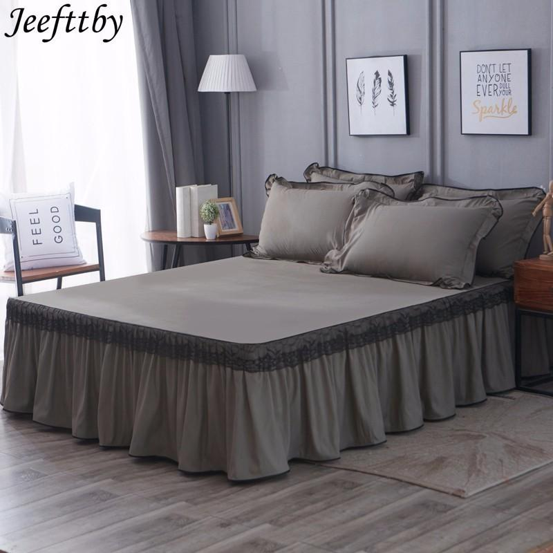 Grosshandel Jeefttby Grau Farbe Spitze Dekoration Rutschfeste Fit