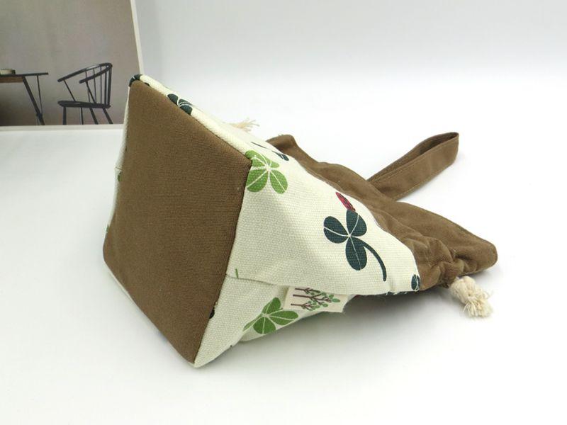 Le sac à main dame art de tissu zéro porte sac cosmétique petit sac de toile portable.