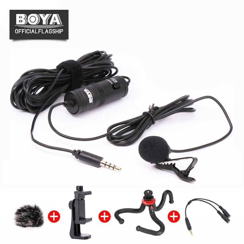 Boya By M1 Lavalier Microphone Omnidirectional Condenser Mic For