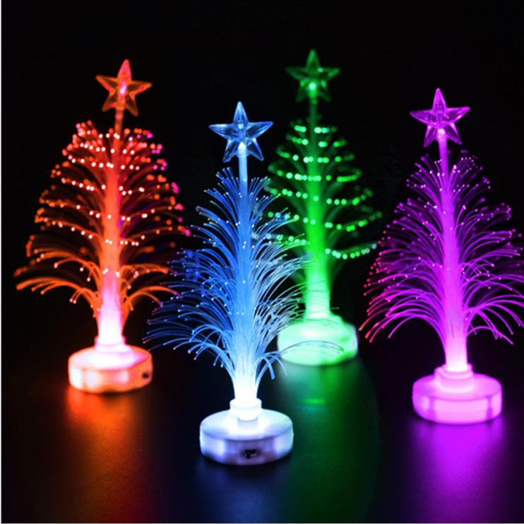 Mini Led Merry Xmas Christmas Tree Color Changing Light Lamp Home Party Decoration Ornament Lighting Up Kids Gift Toys 1000pcs Aaa929