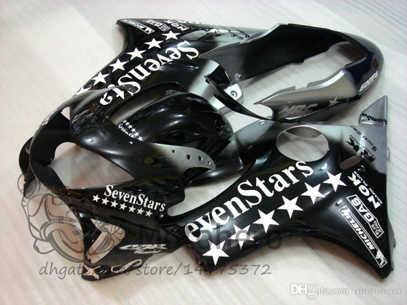 Injection molding Free Gifts Bodywork For HONDA CBR600 F4 1999 2000 CBR 600F4 99 00 CBR 600 F4 99-00 FS Fairing Kit White Black Flame Sevens