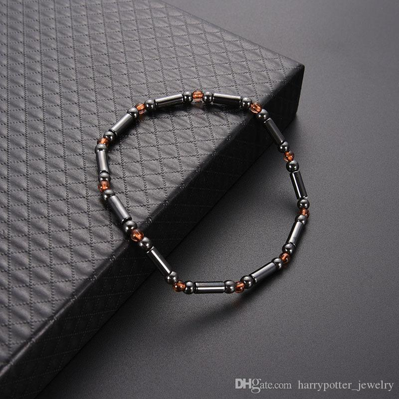 Magnet Anklet Colorful Stone Magnetic Therapy Bracelet Anklet Weight Loss Product Slimming Health Care jewelry drop ship 320089