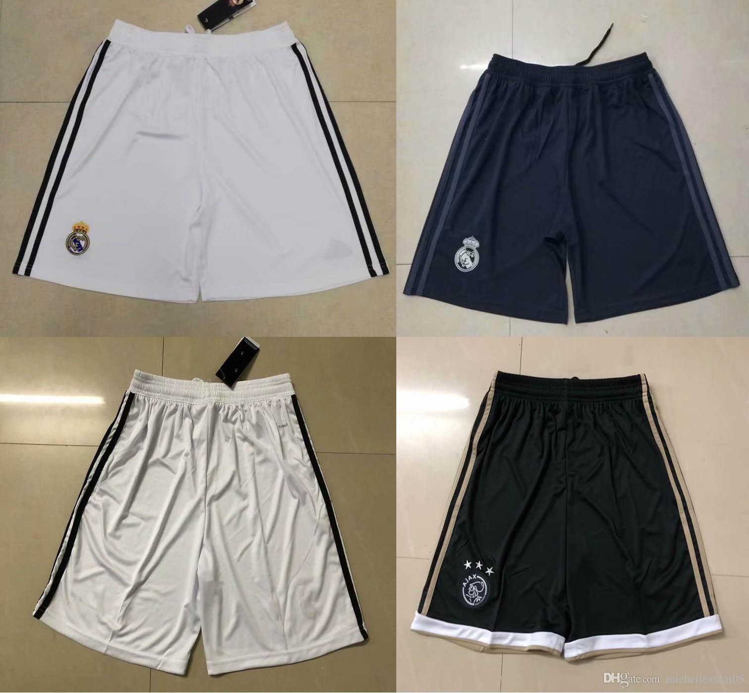 bd907656b76a96 2019 18 19 Real Madrid Home Away Third Soccer Shorts AJAX Football Pants  2018 2019 Adult Top Thai Quality Short Pants Mens Training Shorts From ...