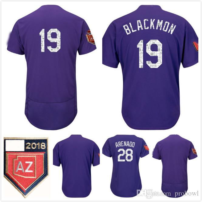 50b7484ed56 ... wholesale 2018 2018 spring training colorado blank 28 nolan arenado 19  charlie blackmon mens womens kids