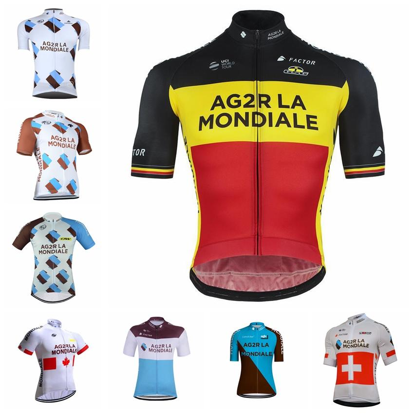 ff487c411 AG2R Team Cycling Short Sleeves Jersey 2018 Quick Dry Bike Maillot Ropa  Ciclismo Bicycle Short Sleeve Shirts MTB Bicycle Clothing 82701J Cycling  Socks Retro ...