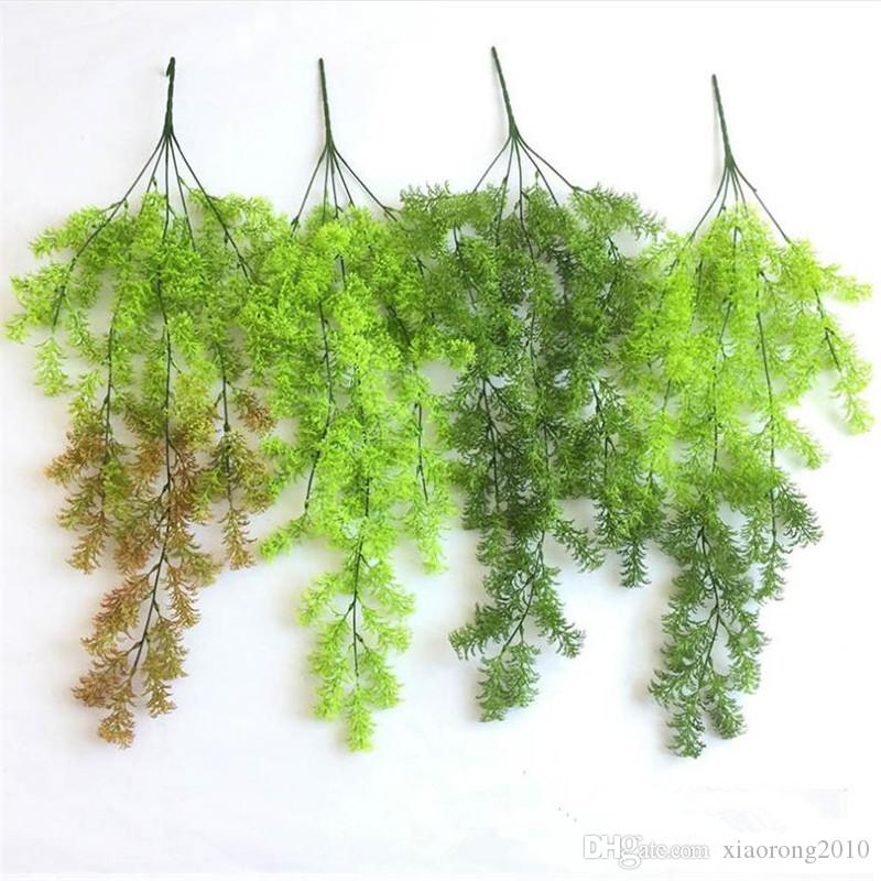 Fake Maidenhair Bracketplant (5 stems/piece) Simulation Spray Color Moss  Grass for Wedding Home Background Wall Decorative Artificial Plants