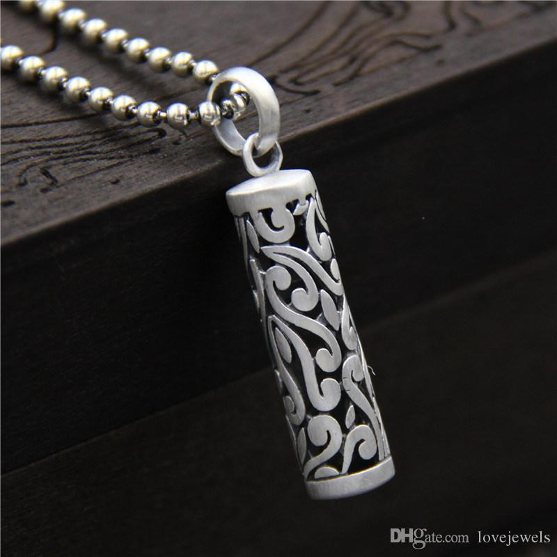 Wholesale 990 Sterling Silver Pendant Men And Women Lovers Pendant Vintage  Marcasite Necklace Cylindrical Pendant Birthday Present Hip Hop Jewelry  Diamond ... 3940faa62