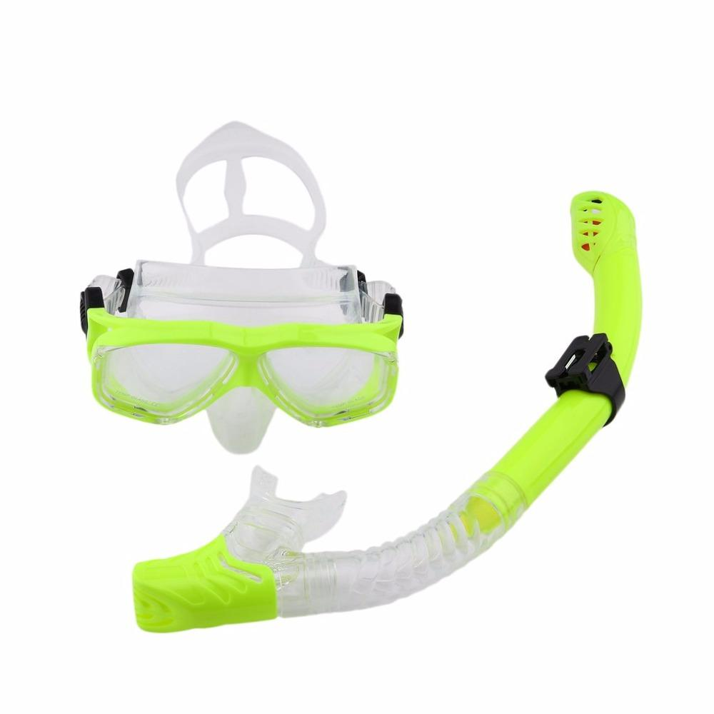 8cc1ec33a872 2019 Professional Silicone Diving Mask Snorkel Anti Fog Goggles Glasses  Breathing Tube Set Swimming Snorkeling Equipment New From Charlia