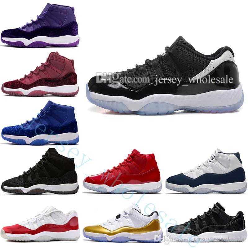 c8101e1cba1e6b 2019 Cheap 11 Low High Velvet Heiress Night Maroon Men Women Basketball  Shoes Black Blue Purple Wine Red 11s Velvet Heiress Sports Size US 5.5 13  From ...