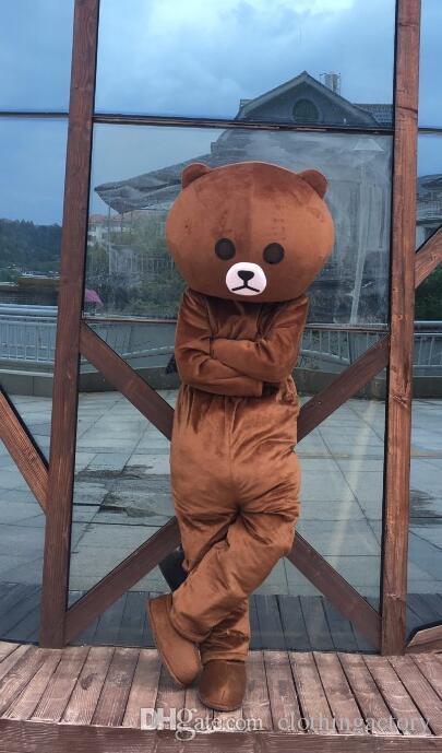 Acquista celebrità web orso orso bruno cartone animato costume