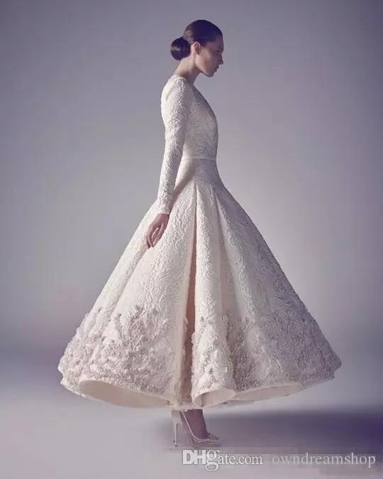 Ashi Studio Prom Dresses sera bianco puro 2017 vendita calda manica lunga profondo scollo a V in pizzo che borda il vestito occasione occasione appliqued