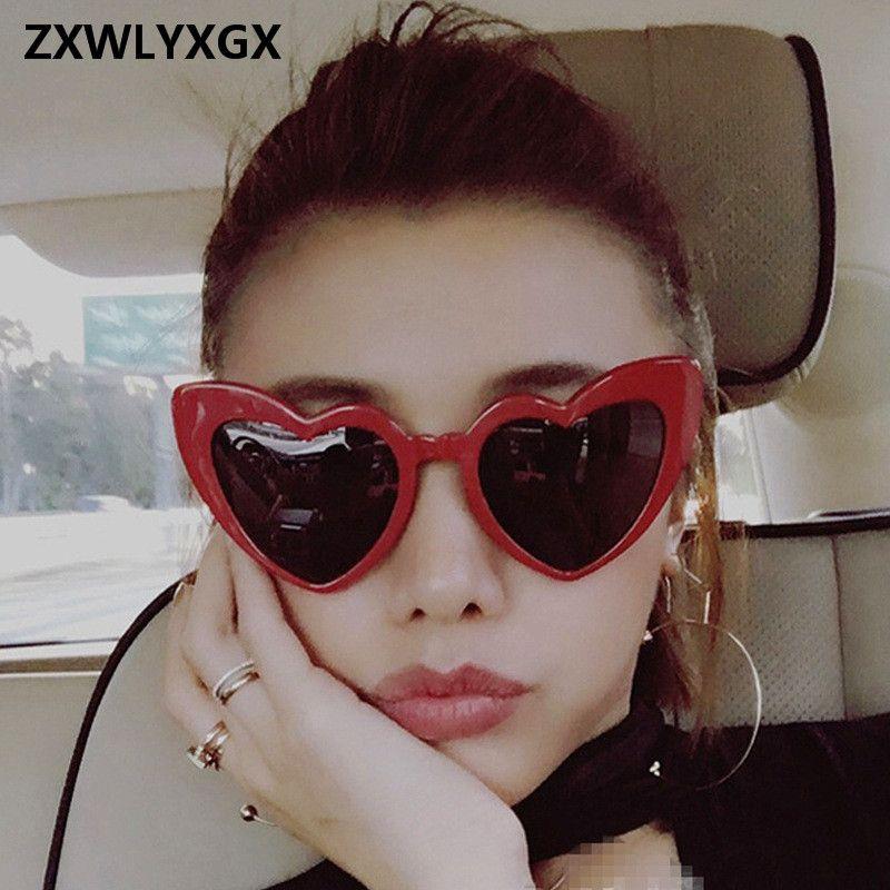 a6c22a07b9 Cheap New Fashion Love Heart Cat Eye Sunglasses Women Brand Designer  Vintage Gradient Sun Glasses Shades Oculos De Sol