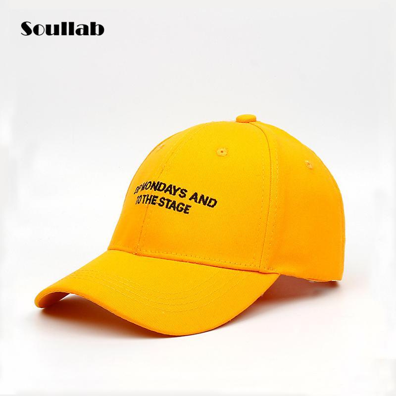 2018 New Fashion Slogan Print Letter Accessories Baseball Caps Snapback Hat  For Men Women Unisex Yellow Blue Runway Street Style Trucker Hats Flexfit  From ... c3689e9dd73f