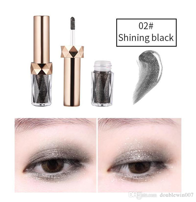 HOT Makeup Brand YANQINA Masonry Liquid Eyeshadow 3D Highlight Glitter Metallic Shining Eye shadow Professiona Eye Base DHL shipping