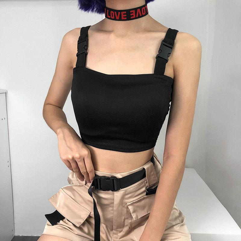 6f2c178783e211 2019 New Sexy Women Cold Shoulder Tank Top Vest Adjustable Sleeveless Short Tops  Casual Club T Shirt Cool Clothes From Layette66