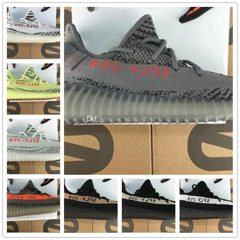 new style d55bb c1781 Compre Con Box 2018 Top Quality 350 V2 Kanye West Frozen Yellow Zebra  Beluga 2.0 Azul Tinte Kanye Zapatos Sply 350 Sneakers Running A  65.88 Del  Kaikai2011 ...