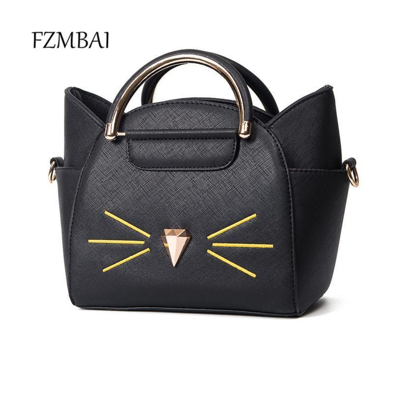 Fzmbai Lovely Small Pu Wings Handbag Women Cat Messenger Bag Best Messenger  Bags Handbags Brands From Xinjiamei d14305e8bd4a2