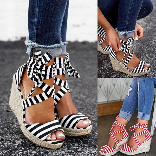 Sexy Women Cute Shoes Sandals Summer Fashion Women Ankle Strap Wedge  Sandals Women Casual Sandal Bandage Shoes Red Wedges Summer Shoes From  Pakjjjj a126a5680f35