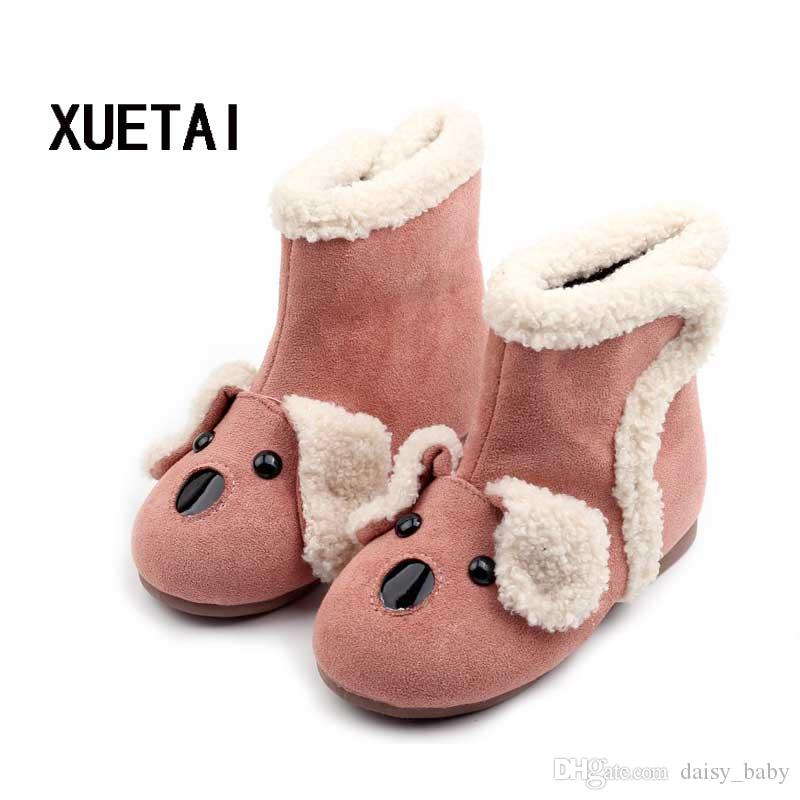 Winter Fashion Cartoon Kids Boots Children's Warm Boot Boys Girls Shoes Boots Wool Flanging Martin Cotton Padded Shoes #11