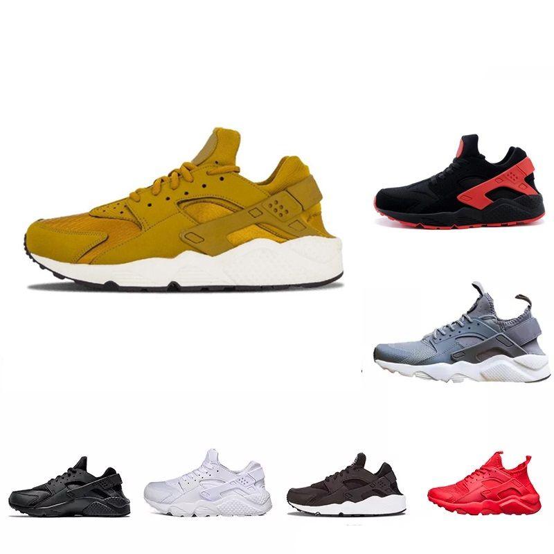 hot sale online dcbe0 968c6 Compre Con Estuche Nuevo Diseño Huarache 4 IV Run Ultra Zapatos Casuales  Para Mujeres, Hombres, Ligeros Huaraches 4 Zapatillas Deportivas Athletic  Shoes 36 ...