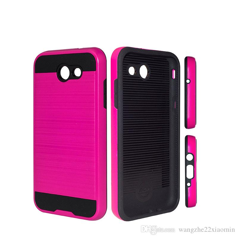 Armor Anti-Shock Phone Back Coverl for Samsung ON7 ON5 J3 Shockproof 2 in 1 Brushed Phone Case for Samsung i9082 J1 ACE