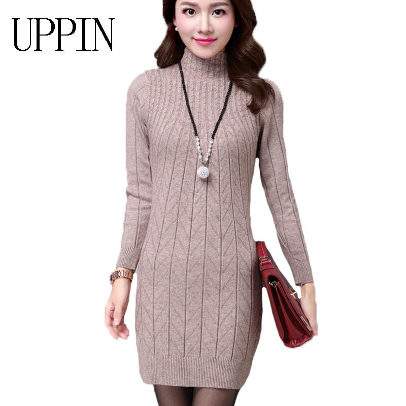 e0411e38f92c 2019 UPPIN 2017 Autumn Winter New Middle Aged Women Long Paragraph ...