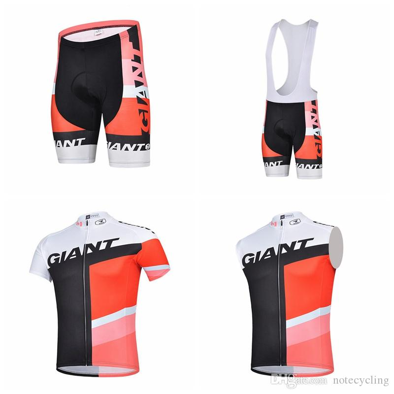 GIANT Cycling Short Sleeves Jersey Bib Shorts Sleeveless Vest Sets Hot Sale  Style 2018 Summer Men S Outdoor Bike Ropa Ciclismo A41403 Cycling Rain Gear  ... 5bdddd1da
