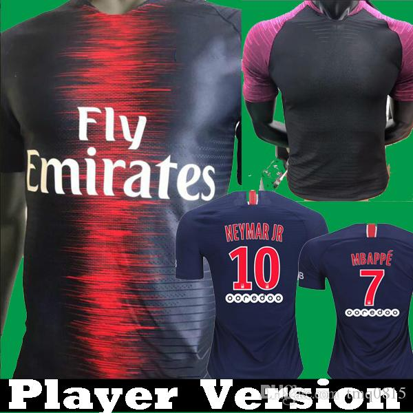 2018 Player Version 18 19 Soccer Jerseys MBAPPE DANI ALVES DI MARIA PSG  Shirts 2018 2019 Training Shirt VERRATTI CAVANI Maillot Draxler From  Tmq0815 6347c550b254e