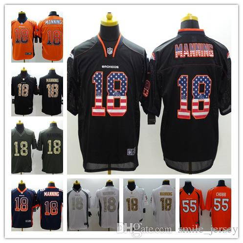 0d9b9e0c 2019 New Mens 18 Peyton Manning Denver Broncos Jerseys 100% Stitched  Embroidery Broncos Peyton Manning Color Rush Football Jerseys