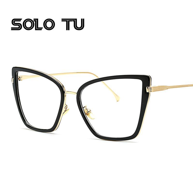 c98bdc8461 2019 2017 Sexy Black Cat Eye Clear Lens Glasses Fashion New Brand Designer  Eyewear Optical Frame Woman Female From Xiacao