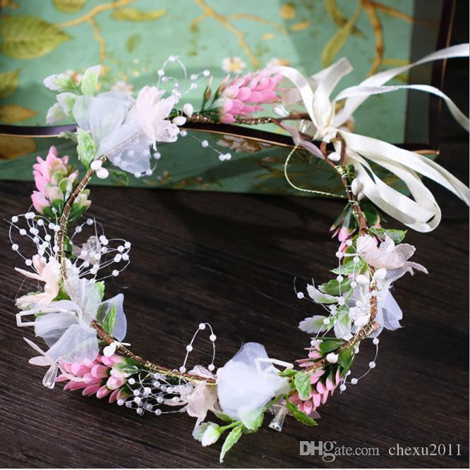 2018 new female bridal garland photo studio photo headwear Photo Props bridal maid hair belt