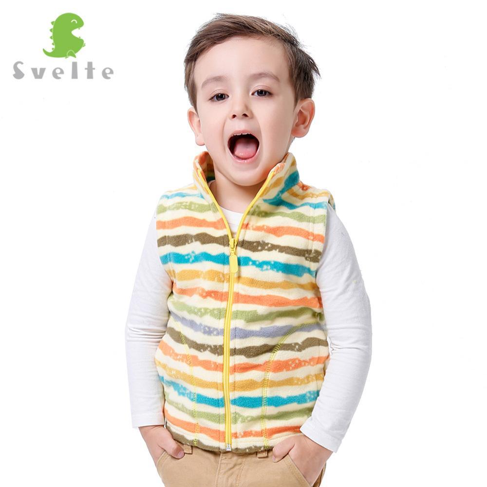 be6f6c2ba Svelte Brand Children Boys Girls Stripe Fleece Vest Kids Boy Girl ...