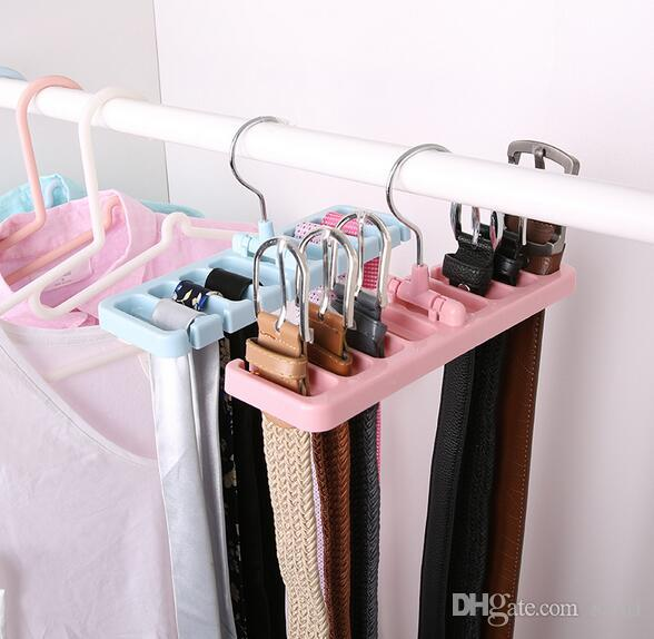 Ordinaire 2018 Storage Rack Tie Belt Organizer Space Saver Rotating Scarf Ties Hanger  Holder Hook Closet Organization Tank Tops Bra Belts Bag From Santi, ...