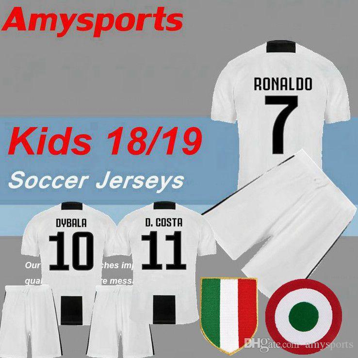 2018 Kids With Patch RONALDO Dybala Soccer Jersey MAGLIA Calcio ... 5a6d23c42