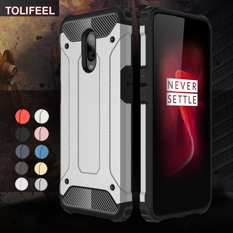 premium selection 5821e 372c0 For Oneplus 1 5 5T 6 6T Case Shockproof Heavy Duty Hard PC Soft TPU Case  For Oneplus 6T Back Phone Cover Cases