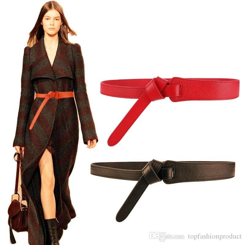 90dc502ebb6f7 Acquista Donne Cintura Di Lusso Cintura Donna Cintura Cinture Moda Semplice  Nodo In Pelle Cinture Cappotti Da Donna Casual Occasione