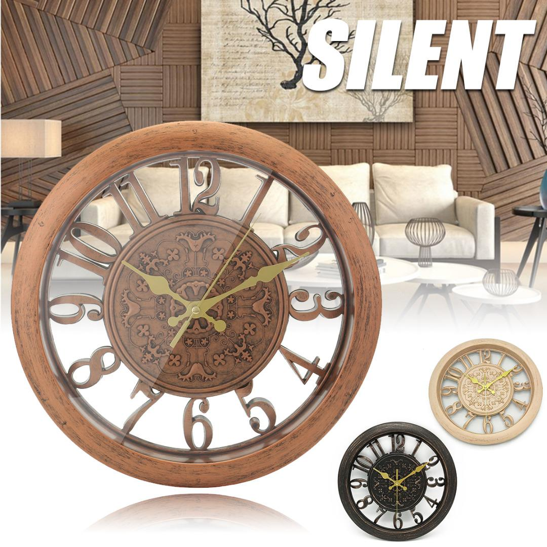 JX LCLYL PVC Vintage Silent Quartz Rustic Wall Clock Retro Style Shabby  Chic Steampunk Modern Wall Clocks Online Musical Wall Clock From Curteney,  ...