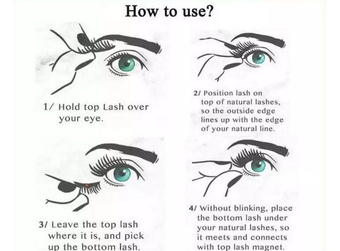 single Magnetic False Eye Lashes 3D Mink Reusable extensions Magnet Eyelashes 3d fake eyelash extensions magnetic eyelashes