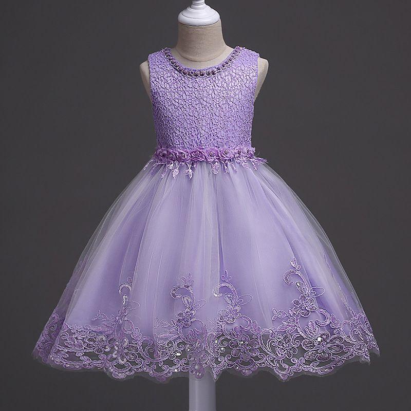 Flower Girl Dresses Wedding Lace Princess Dress For Children Evening ...