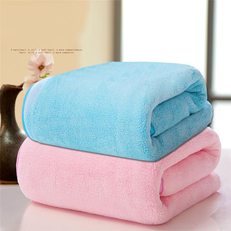 Solid Bath Towel 130*75cm Set for Adults Kids Soft Microfiber Fabric Beach  Bathroom Towel Set Super Absorbent Quick Dry