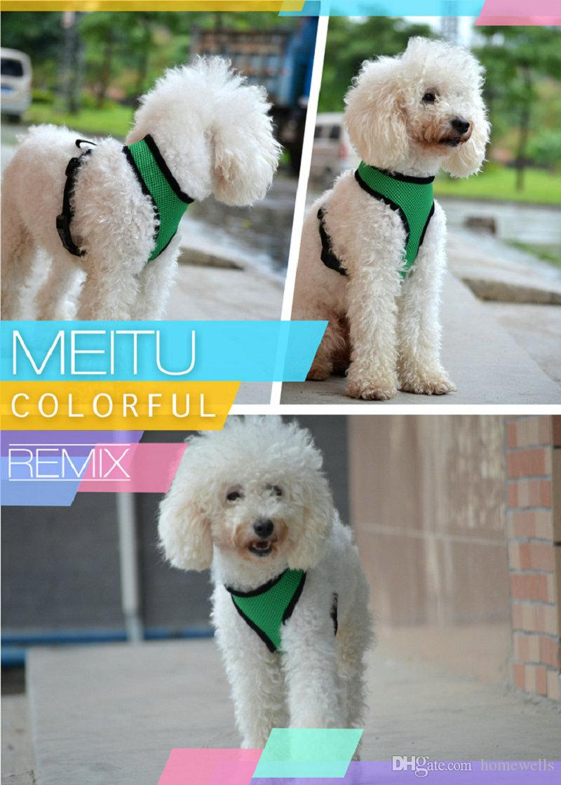 New 14 Style Pet Dog Nylon Net Mesh Harness Strap Vest Collar Small Medium Size Dog Puppy Comfort Harness Dog Summer Vest T-Shirt