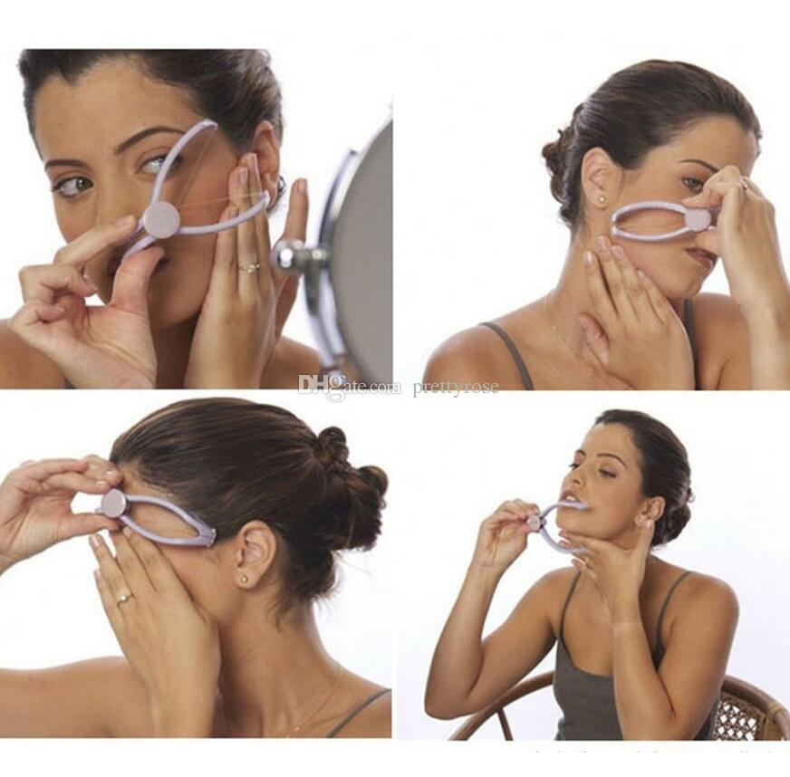 Removedor de pêlos Facial Manual Depilador Dispositivo de Remoção Depilador de Cabelo Raspador de Rosto Facial Ferramenta de Beleza Do Cabelo Feminino Trimmer Frete Grátis
