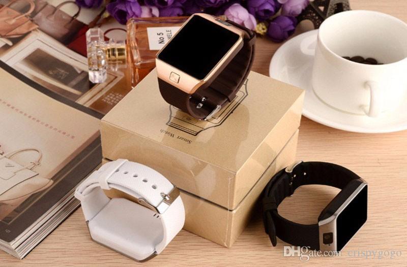 DZ09 montre intelligente Bluetooth smartwatch avec une carte SIM pour appareil photo Apple pour les téléphones android, iwatch SIM intelligente montre Dz09 avec le paquet de vente au détail