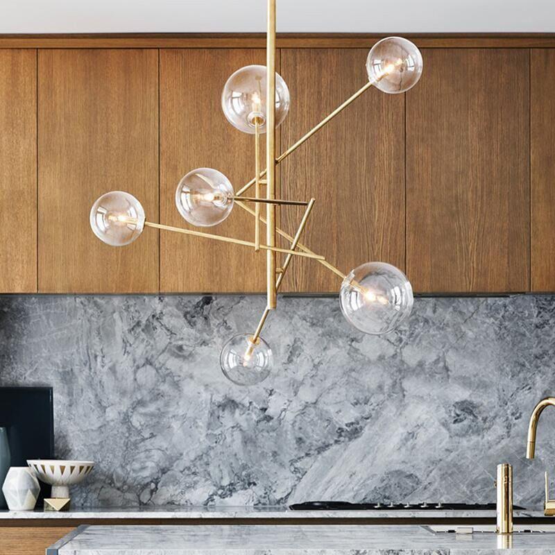 Acheter Moderne Pendentif Lumi¨res Boule De Verre Lampe De Plafond