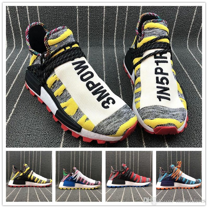 best service 35431 dab7c Wholesale HUMAN Race HOLI MC Mens Running Shoe Upper Designer Yellow Blue  Pink Red Women Trainer Sport Sneaker Without Box Men Sports Shoes Shoe  Shops From ...