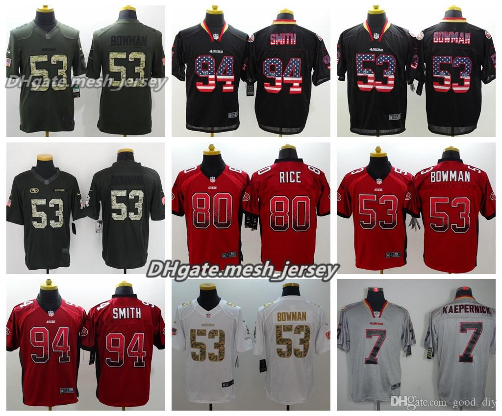 af176db18b0 ... where can i buy 2018 men san francisco jersey 49ers 53 navorro bowman  80 jerry rice