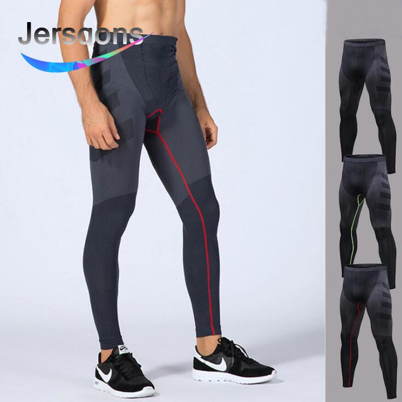 8e4e0a75088b1 2019 Jersqons Men Compression Leggings Running Tights Sports Tights  Crossfit Gym Clothing Fitness Compression Pants From Yiquanwater